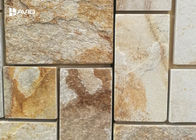 Rectangle Sandstone Cultured Stone For Wall Decor Big And Small Bars Combination