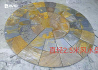 Non Slip Rustic Slate Floor Tiles 1.5/1.8m Diameter lowest price Jiangxi Quarry