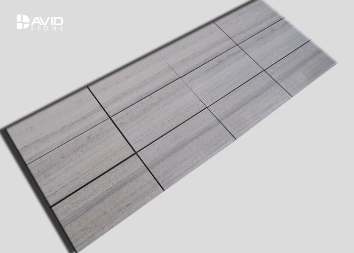 High Density Wood Grain Marble Stone Tile For Hotel / High End Villas Floor And Wall